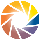 KNFB Reader Logo made of multicolored wedges arranged in an open circle that resembles the iris of an eye