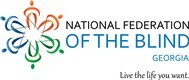 The National Federation of the Blind of Georgia logo